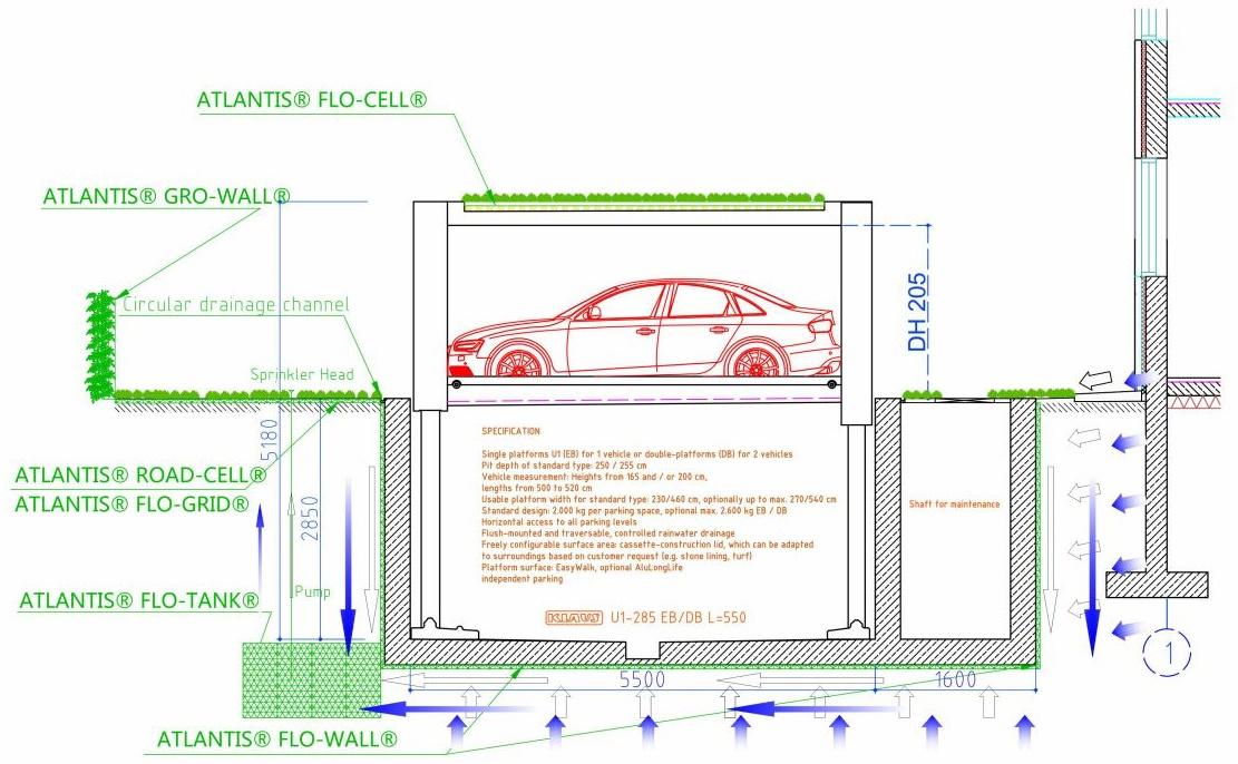 Gardarica Underground Parking Diagram